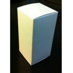 White cardboard vial box, 10mL, Pk 100