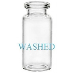 WASHED 10mL Clear Serum Vials, 24x50mm, Ream of 179