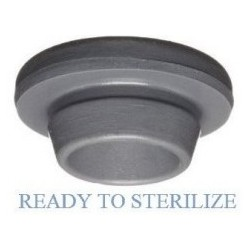 WASHED 20mm Vial Stopper, Round Bottom, Ready for Sterilization, Bag of 2500