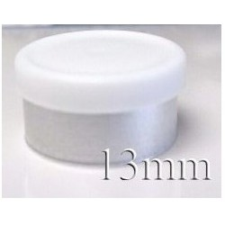 13mm West Matte Flip Off Vial Seal, White, Bag of 1,000
