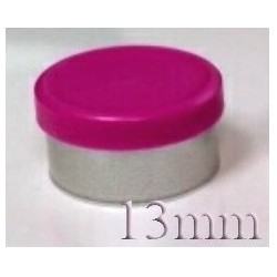 13mm West Matte Flip Off Vial Seal, Magenta, Bag of 1,000