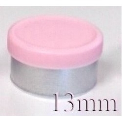 13mm West Matte Flip Off Vial Seal, Pink, Bag of 1,000