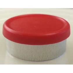 West 20mm Matte Flip Cap Vial Seals, Red, Bag 1000