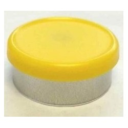 West 20mm Matte Flip Cap Vial Seals, Yellow, Bag 1000
