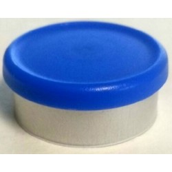 West 20mm Matte Flip Cap Vial Seals, Royal Blue, Bag 1000