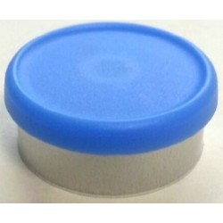 West 20mm Matte Flip Cap Vial Seals, Light Blue, Bag 1000