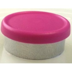West 20mm Matte Flip Cap Vial Seals, Magenta, Bag 1000