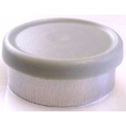 West 20mm Matte Flip Cap Vial Seals, Misty Gray, Bag 1000