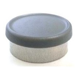 West 20mm Matte Flip Cap Vial Seals, Dark Gray, Bag 1000