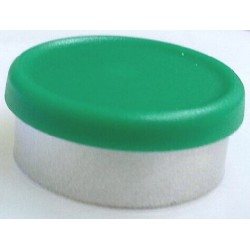 West 20mm Matte Flip Cap Vial Seals, Green, Bag 1000