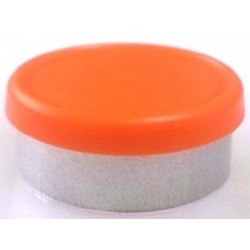 West 20mm Matte Flip Cap Vial Seals, Orange Peel, Bag 1000
