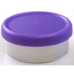 West 20mm Matte Flip Cap Vial Seals, Purple, Bag 1000
