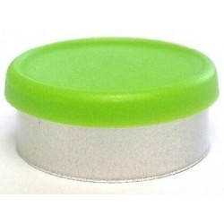 West 20mm Matte Flip Cap Vial Seals, Willow Green, Bag 1000