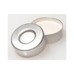PTFE Lined 20mm Aluminum Vial Seals with Teflon Septa, pk 100