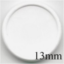 13mm Plain Flip Caps, White, Bag of 1,000