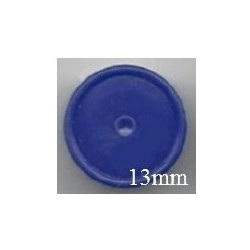 13mm Plain Flip Caps, Dark Blue, Bag of 1,000