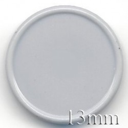 13mm Plain Flip Caps, Light Gray, Bag of 1,000
