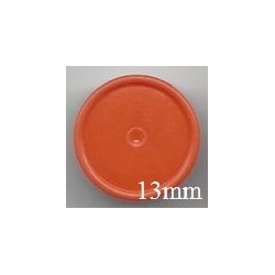 13mm Plain Flip Caps, Orange, Bag of 1,000