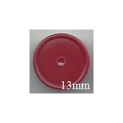 13mm Plain Flip Caps, Brick Red, Bag of 1,000