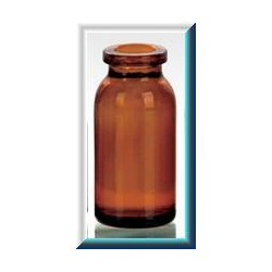 10mL Amber Molded Serum Vials, 25x54mm, Ream of 192
