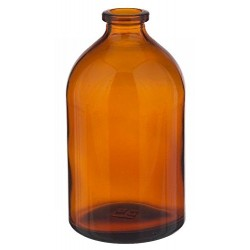 100mL Amber Serum Vials, 52x95mm, Case of 144