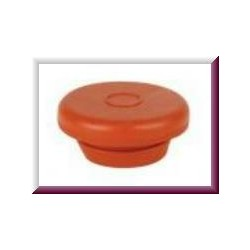 20mm Vial Stopper, Red Rubber, Pack of 100