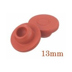 13mm Vial Stopper, Red Rubber, Pack of 100