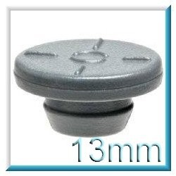 13mm Vial Stopper, Silicone Treated Round Bottom, Pack of 100