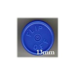 13mm Flip Off Vial Seals, Royal Blue, Pack of 100