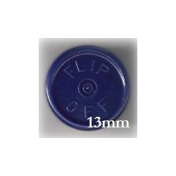 13mm Flip Off Vial Seals, Dark Navy Blue, Pack of 100