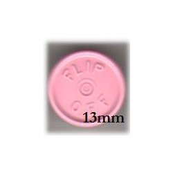 13mm Flip Off Vial Seals, Frost Pink, Pack of 100