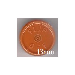13mm Flip Off Vial Seals, Rust Orange, Case of 1000