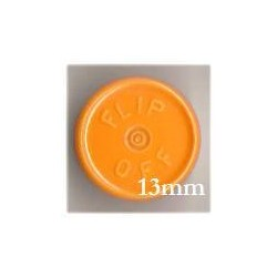 13mm Flip Off Vial Seals, Faded Light Orange, Pack of 100