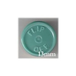 13mm Flip Off Vial Seals, Slate Blue Green, Pk 100