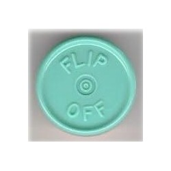 20mm Flip Off Vial Seals, Faded Turquoise Blue, Pack of 100