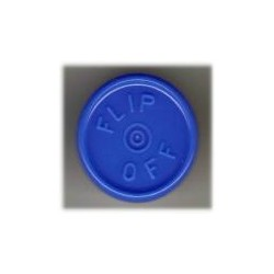 20mm Flip Off Vial Seals, Royal Blue, Bag of 1000