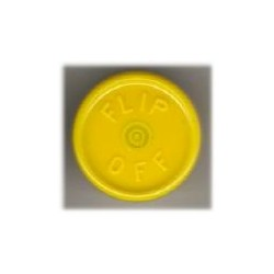 20mm Flip Off Vial Seals, Yellow, Bag of 1000
