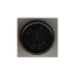 20mm Flip Off Vial Seals, Black, Bag of 1000