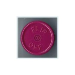 20mm Flip Off Vial Seals, Burgundy Violet, Pack of 100
