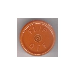 20mm Flip Off Vial Seals, Rust Orange, Bag of 1000