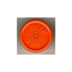 20mm Flip Off Vial Seals, Orange Peel, Pack of 100
