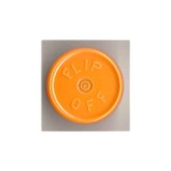 20mm Flip Off Vial Seals, Faded Light Orange, Bag of 1000