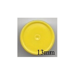 13mm Plain Flip Caps, Yellow, Pk 100
