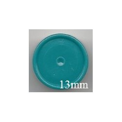 13mm Plain Flip Caps, Turquoise Blue Green, Pk 100