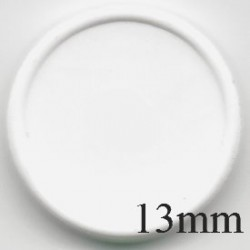 13mm Plain Flip Caps, White, Pk 100