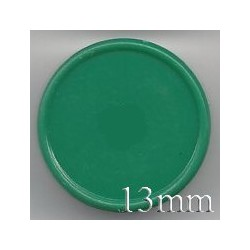 13mm Plain Flip Caps, Green, Pk 100