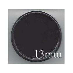 13mm Plain Flip Caps, Black, Pk 100