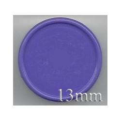 13mm Plain Flip Caps, Purple, Pk 100