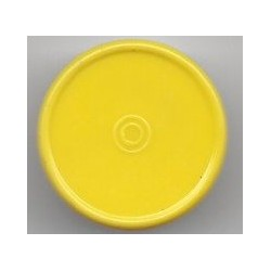 20mm Plain Flip Cap, Yellow Frost, Pk 100