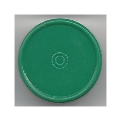 20mm Plain Flip Caps, Green, Pk 100